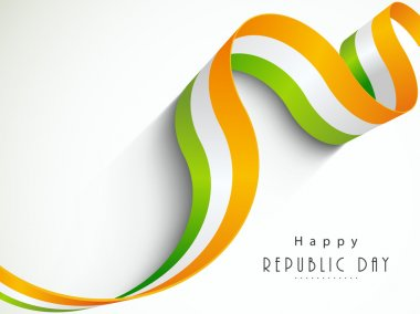 National flag color stripes for Indian Republic Day.