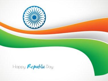 Happy Indian Republic Day celebration with Ashoka Wheel.