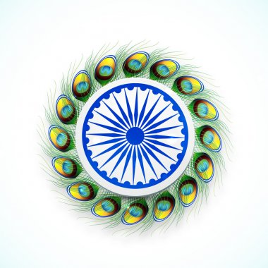 Indian Republic Day celebration with Ashoka Wheel.