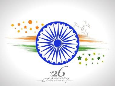Ashoka Wheel with pigeons for Indian Republic Day celebration.