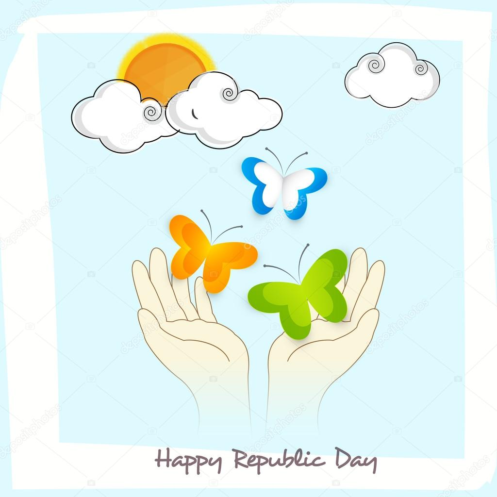 Greeting card design for indian republic day celebration stock greeting card design for indian republic day celebration stock vector m4hsunfo