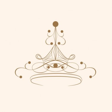 Creative stylish crown design.