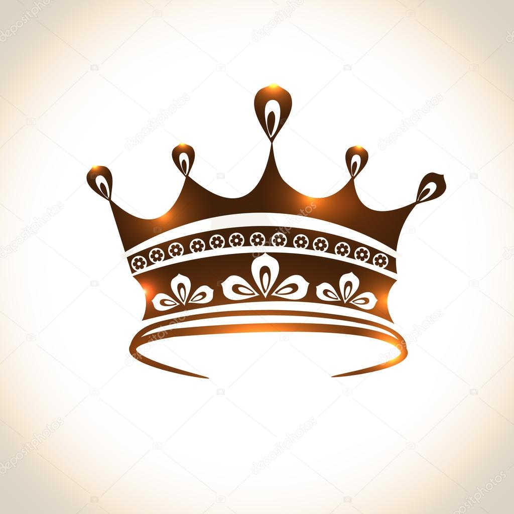 Creative shiny design of crown.
