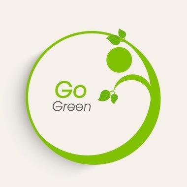 Sticker or label for Save Nature purpose.