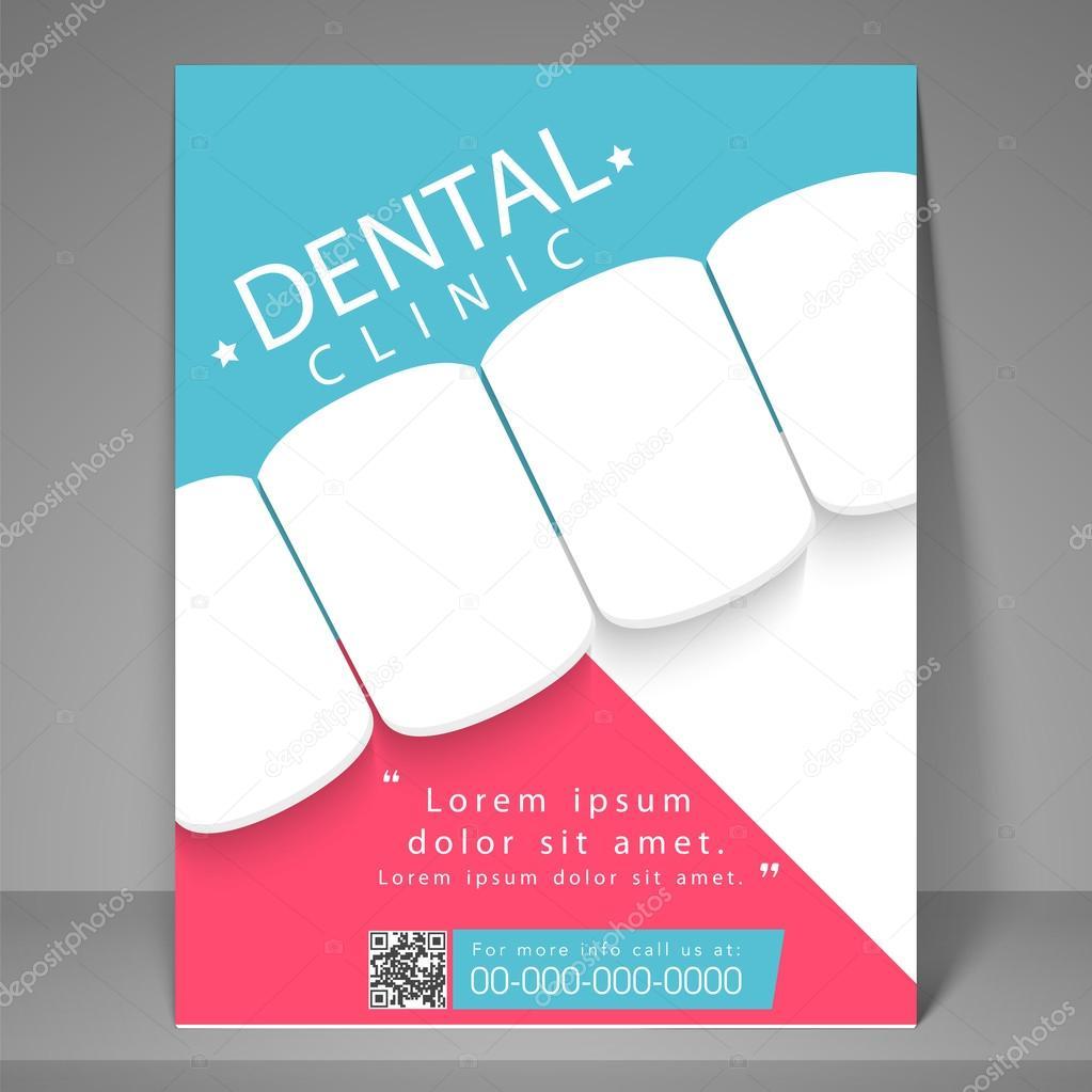 free dental brochure templates - dental clinic flyer template or brochure stock vector