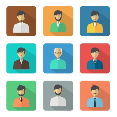 Set of different business avatars.