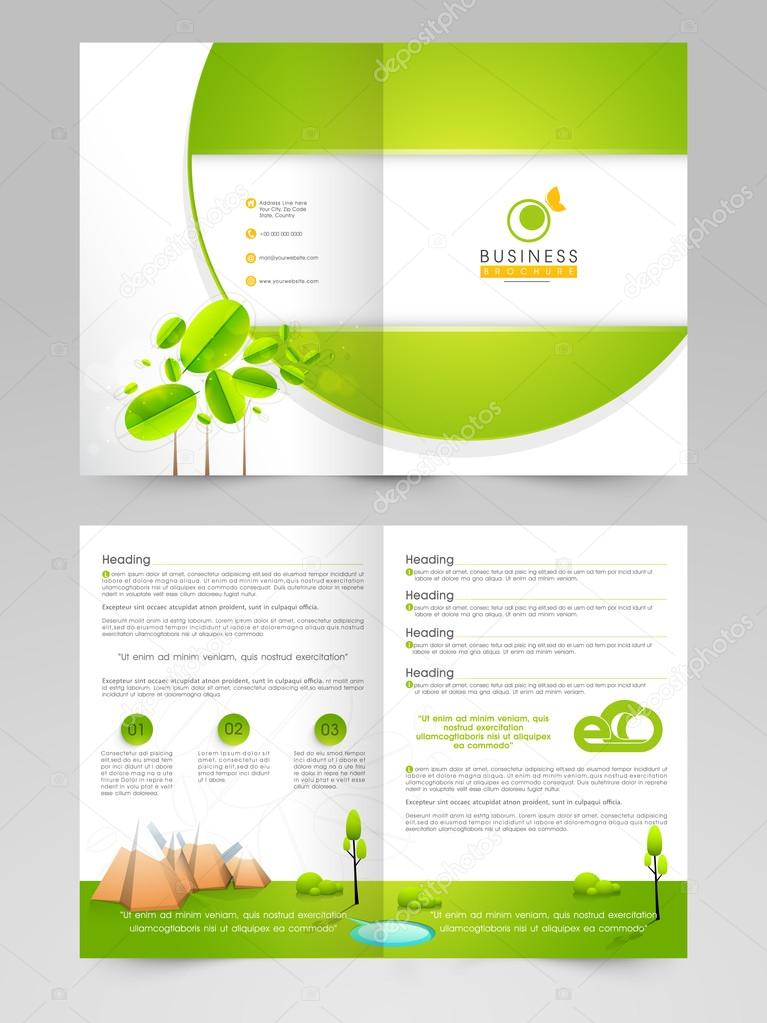 Brochure Template Or Catalog For Eco Concept Stock Vector