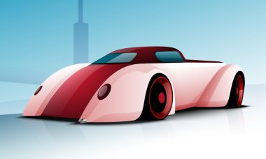 Transportation concept with sports car.