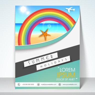 Flyer or brochure for tourism.