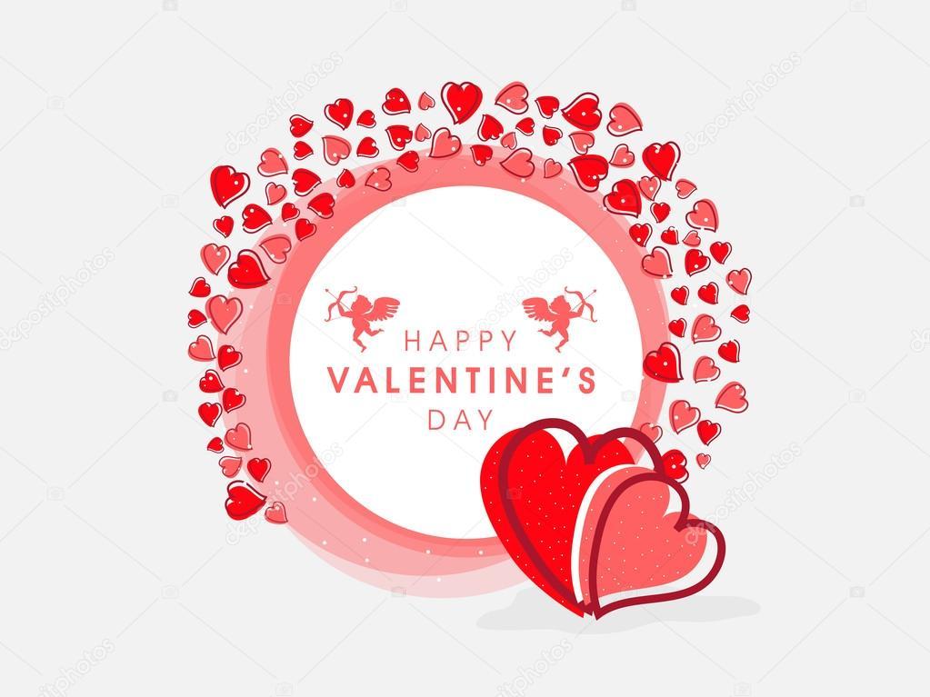 Hermoso marco para la celebración del día de San Valentín feliz ...