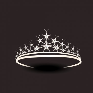 Concept of stylish tiara.