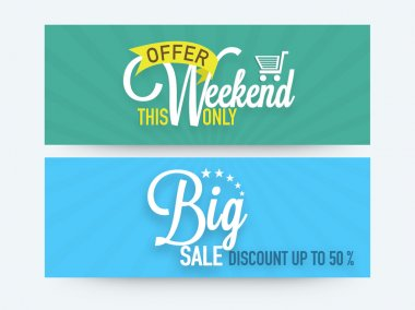 Big sale web header or banner set.