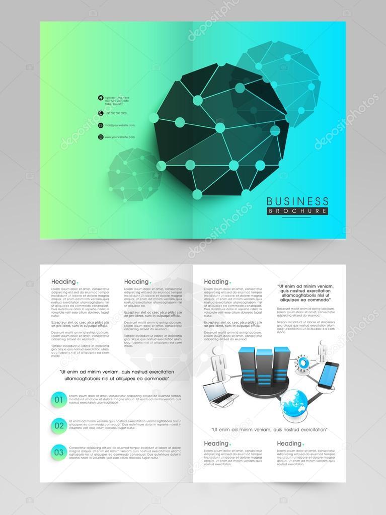 Unternehmen-Flyer, Broschüre oder Vorlage — Stockvektor ...