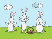 Roztomilý králík pro Veselé Velikonoce oslava.