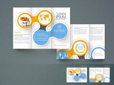Professional trifold brochure, catalog and flyer for business purpose.