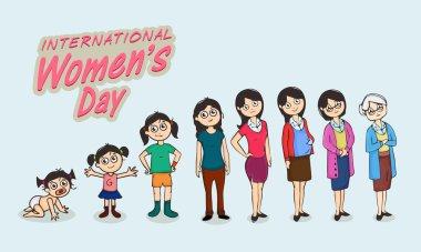 International Women's Day celebration concept.