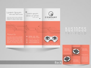 Professiona trifold brochure, catalog and flyerfor business purpose.