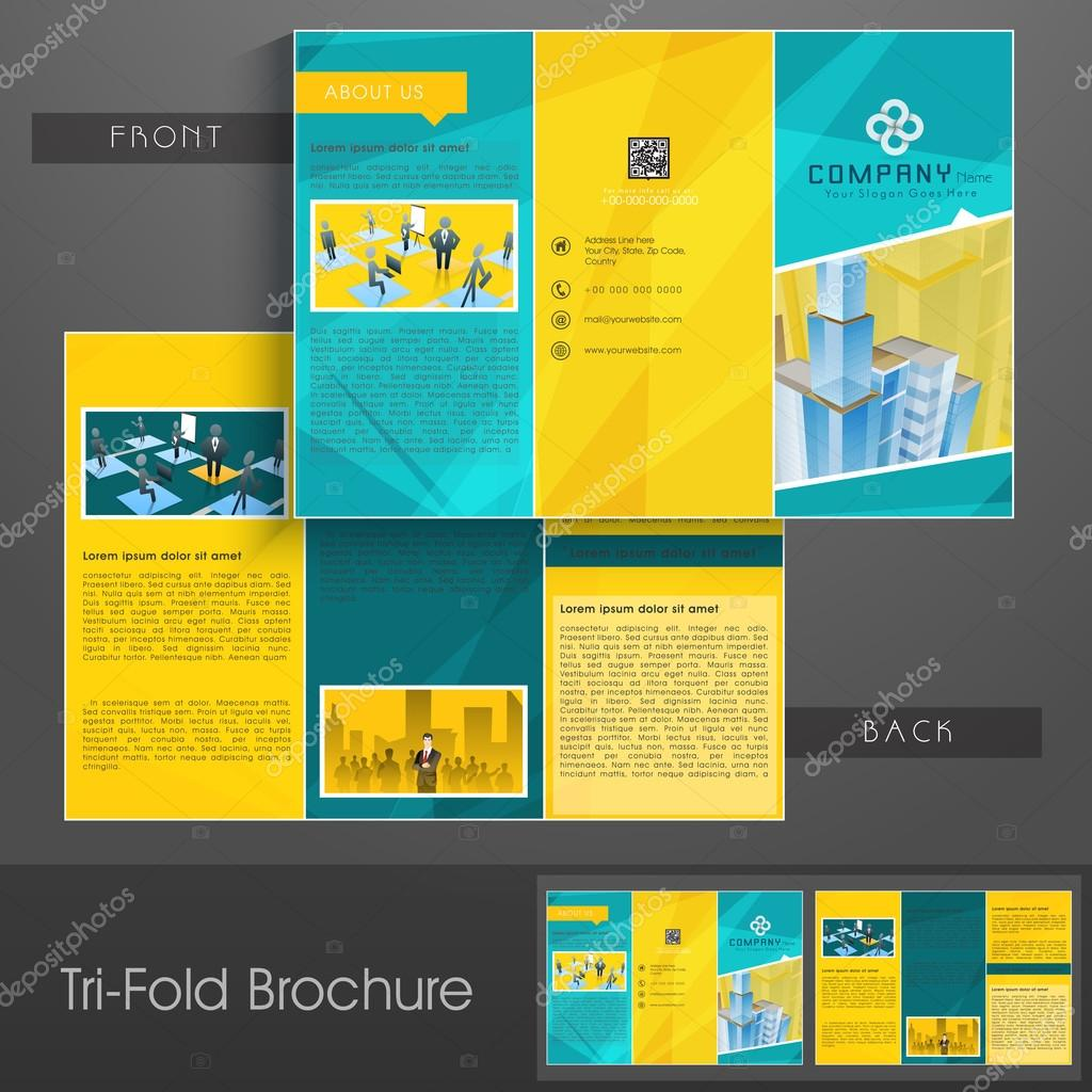 Professional trifold brochure, catalog and flyer.
