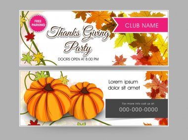 Concept of  header for thanks giving party.