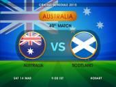 Australia vs Scotland Cricket match schedule 2015.