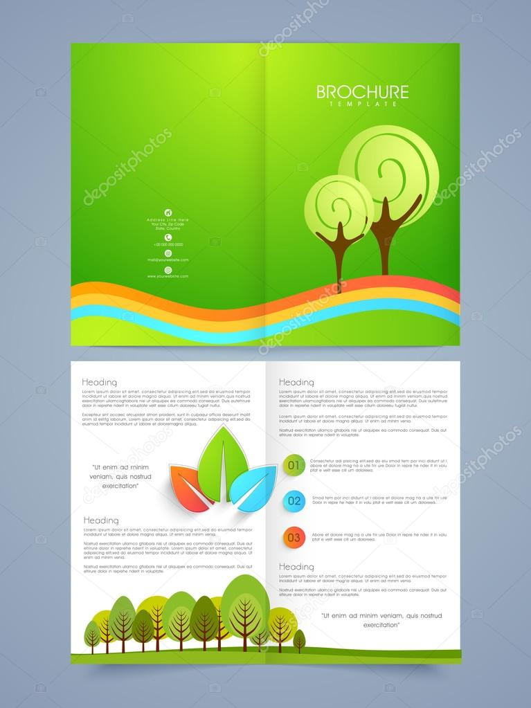 Business brochure, flyer or template design.