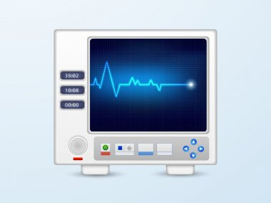 Ecg monitor for medical concept.