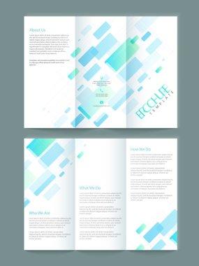 Tri-fold brochure, template or flyer design for business.