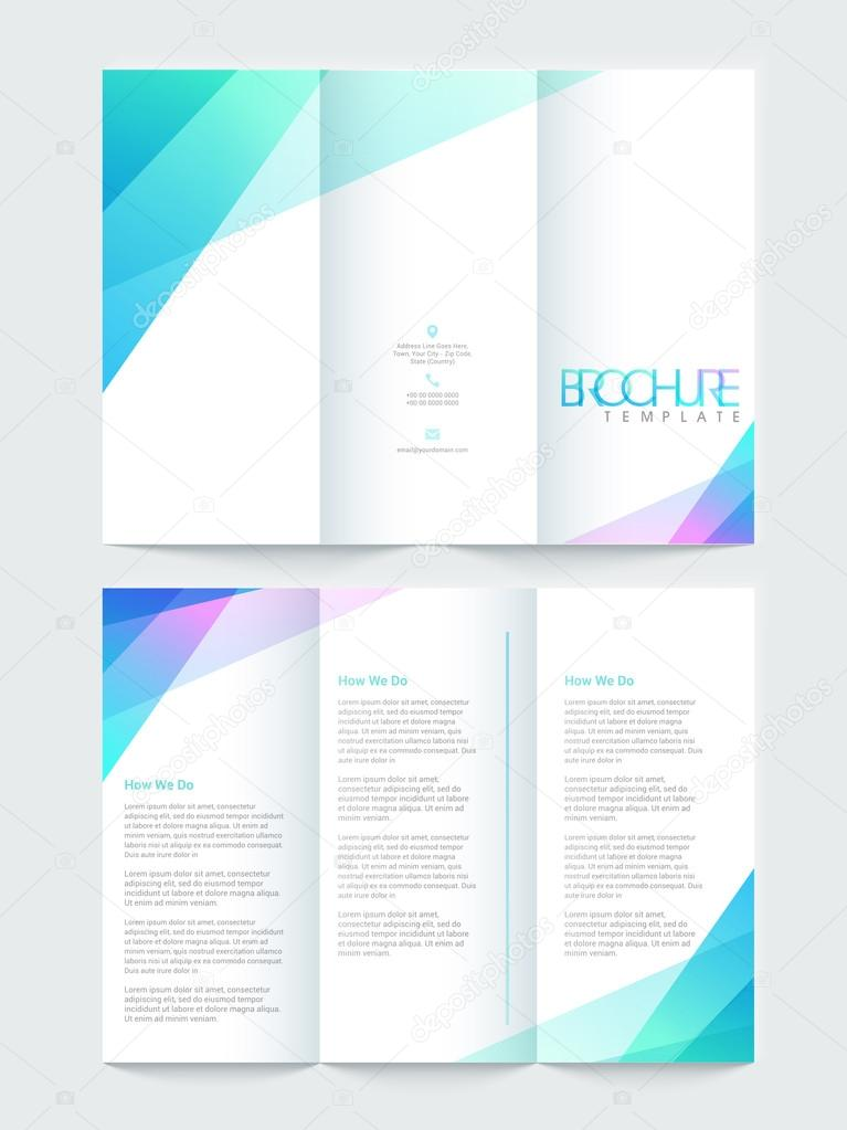 Tri Fold Brochure Template Or Flyer Design For Business Stock