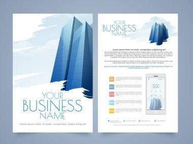 Business brochure, template or flyer design.