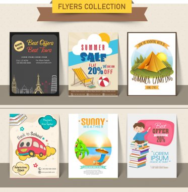 Collection of different flyer set.