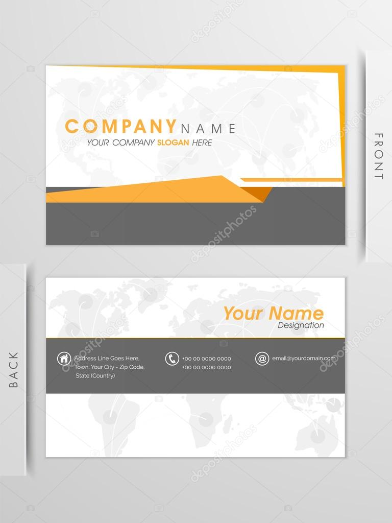 Professional business card or visiting card design. — Stock Vector ...