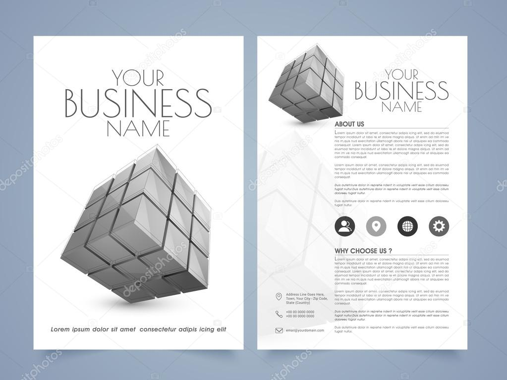 Professional Flyer Template Or Brochure Stock Vector