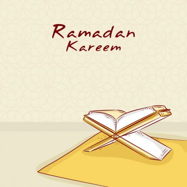 Holy islamic book Quran Shareef for Ramadan Kareem celebration.