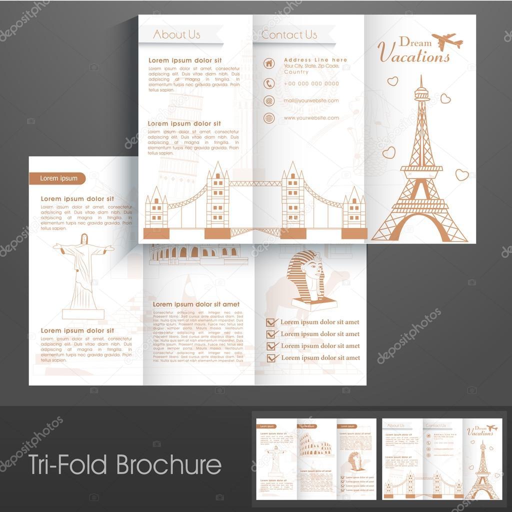 Stilvolle Tri Fold Broschüre, Katalog und Flyer für Touren und ...