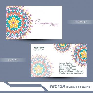 Professional business card design.