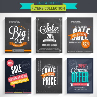 Set of Big Sale Flyers.
