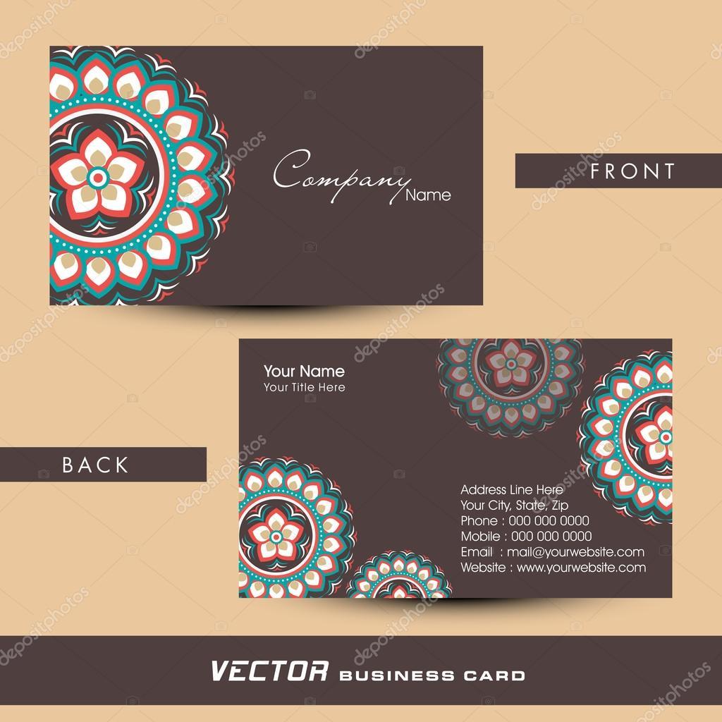 Floral business or visiting card design stock vector floral business or visiting card design stock vector colourmoves