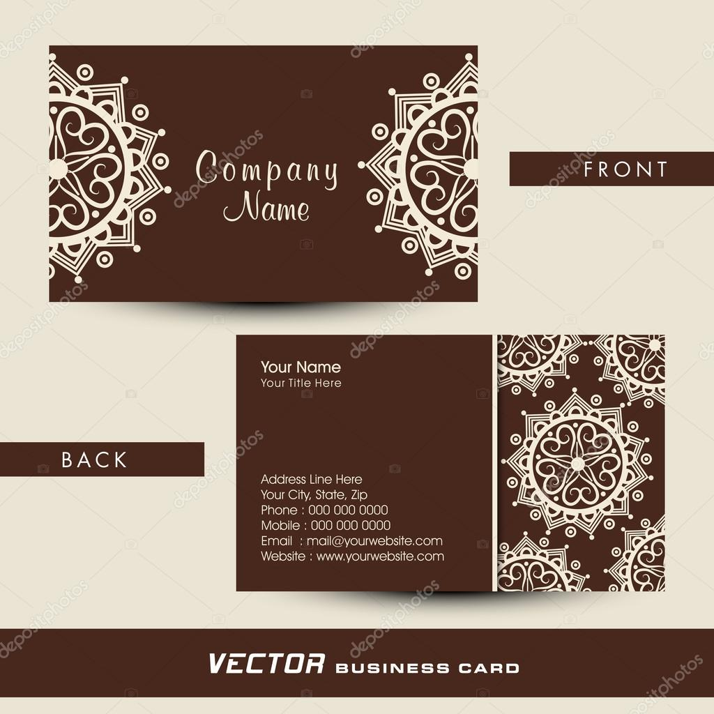 Floral business or visiting card design. — Stock Vector ...