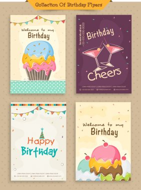 Collection of Birthday Flyers.