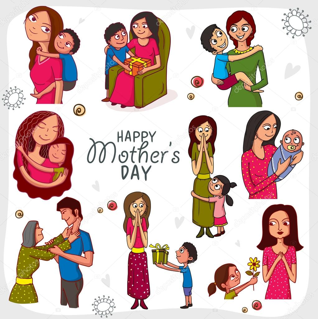 Happy Mother's Day celebration concept.