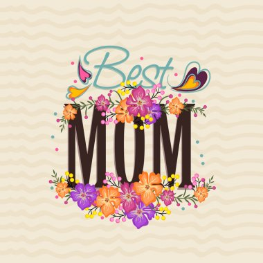 Poster, banner or flyer for Happy Mother's Day.