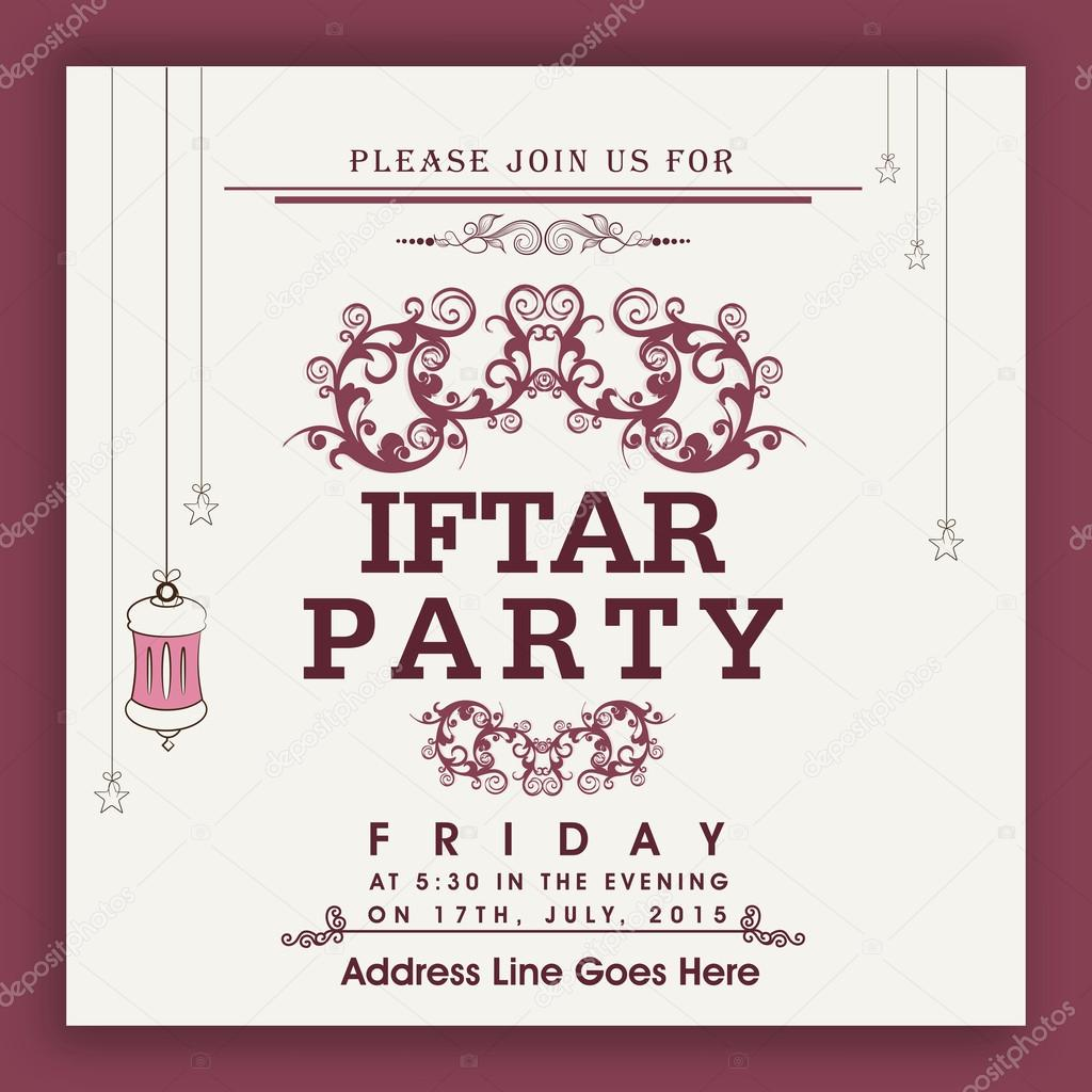 Beautiful invitation card for ramadan kareem iftar party celebra beautiful floral design decorated invitation card for holy month of muslim community ramadan kareem iftar party celebration vector by alliesinteract stopboris Image collections