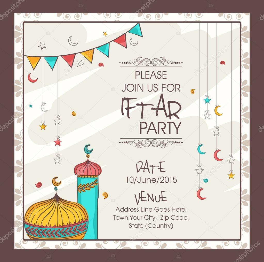 Ramadan kareem iftar party celebration invitation card stock ramadan kareem iftar party celebration invitation card stock vector stopboris Choice Image