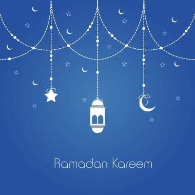 Ramadan Kareem celebration greeting card.