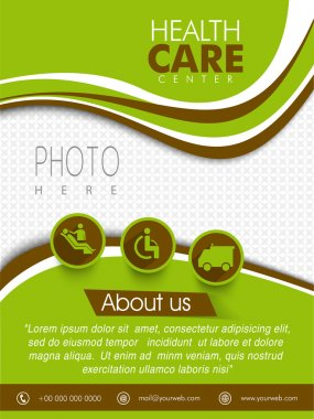 Template, brochure or flyer for Health Care Center.