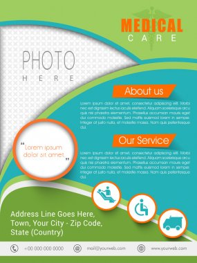Medical Care template, brochure or flyer.