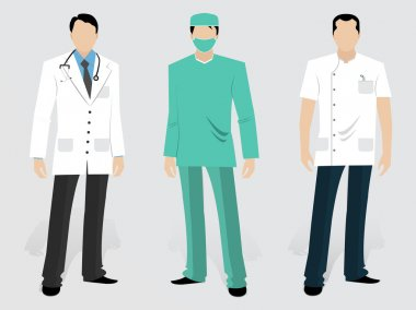 Set of Medical characters.
