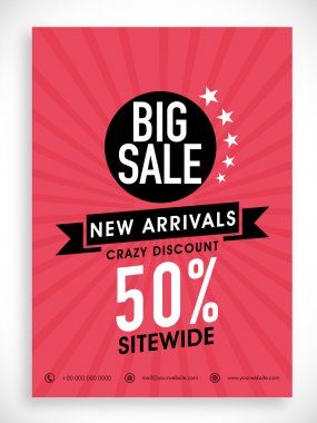 Big sale poster, banner or flyer design.