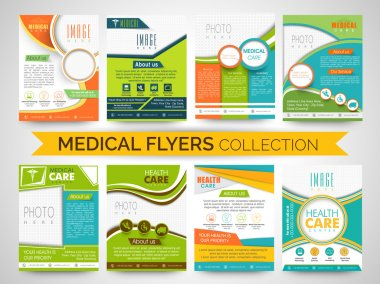Stylish Medical Flyers, Templates or Brochures collection.