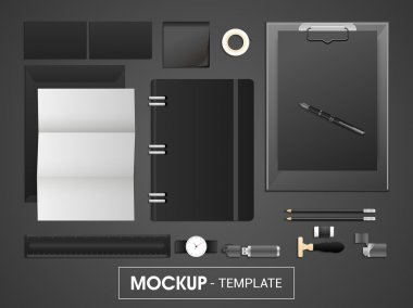 Corporate identity kit or mockup template for business.